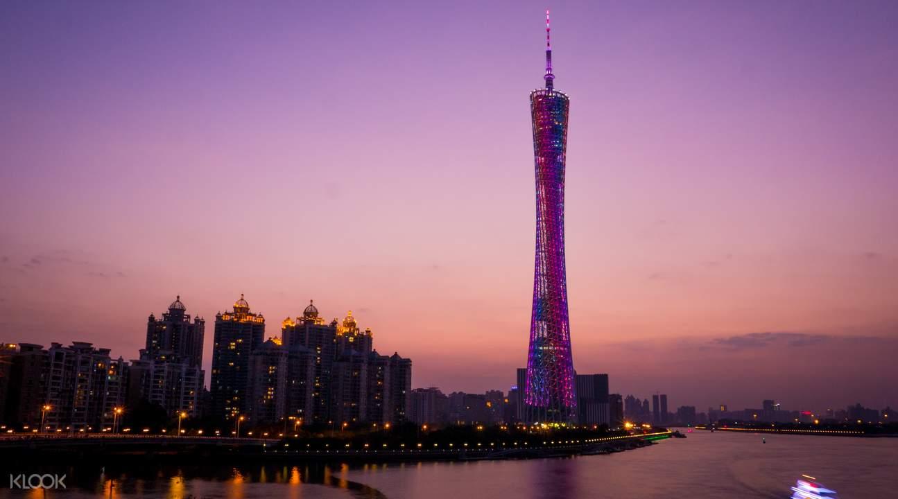 游览广州市内经典景点,沙湾古镇,小蛮腰,环球魔幻世界等